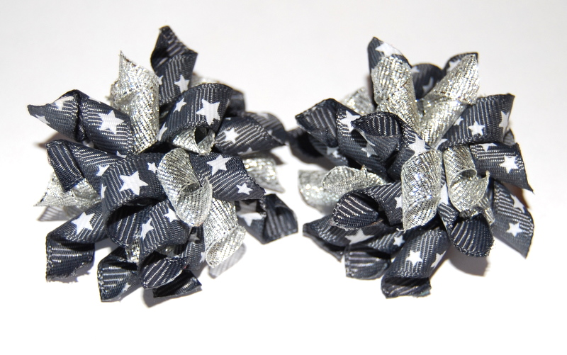 Charcoal and silver with stars Teeny Tiny Korkers-