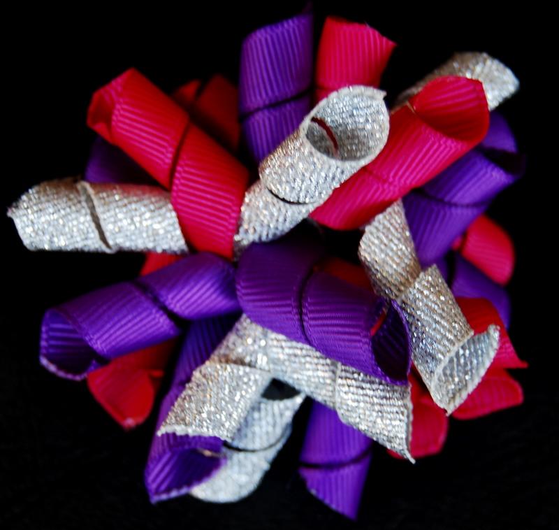 Dark Pink, purple and metallic silver Princess Korker-