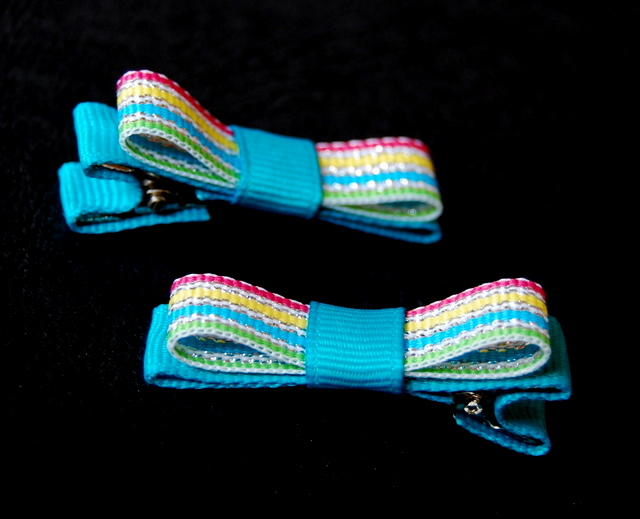 Shimmering stripes Classic Bows - choice of colours-