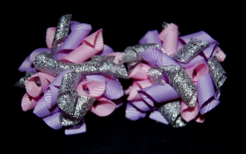 Pink, mauve and silver Teeny Tiny Korkers-