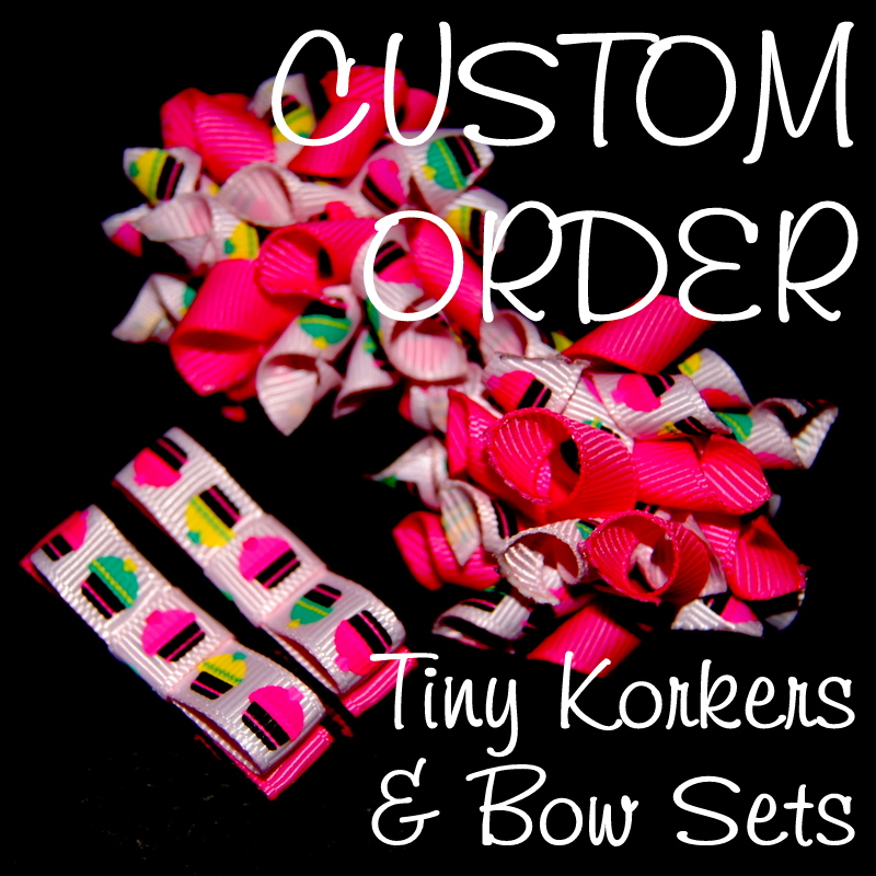 Teeny Tiny Korkers and Bow SET - Custom Order-