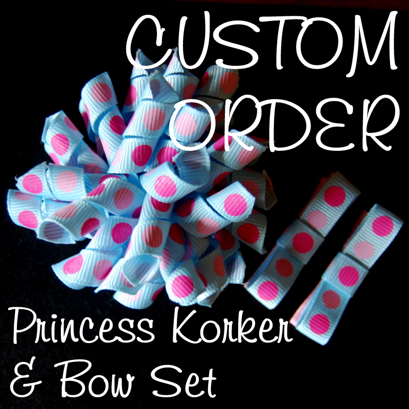 Princess Korker and Bow SET - Custom Order-