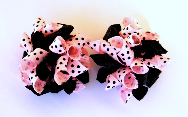 Pale pink and black Teeny Tiny Korkers-