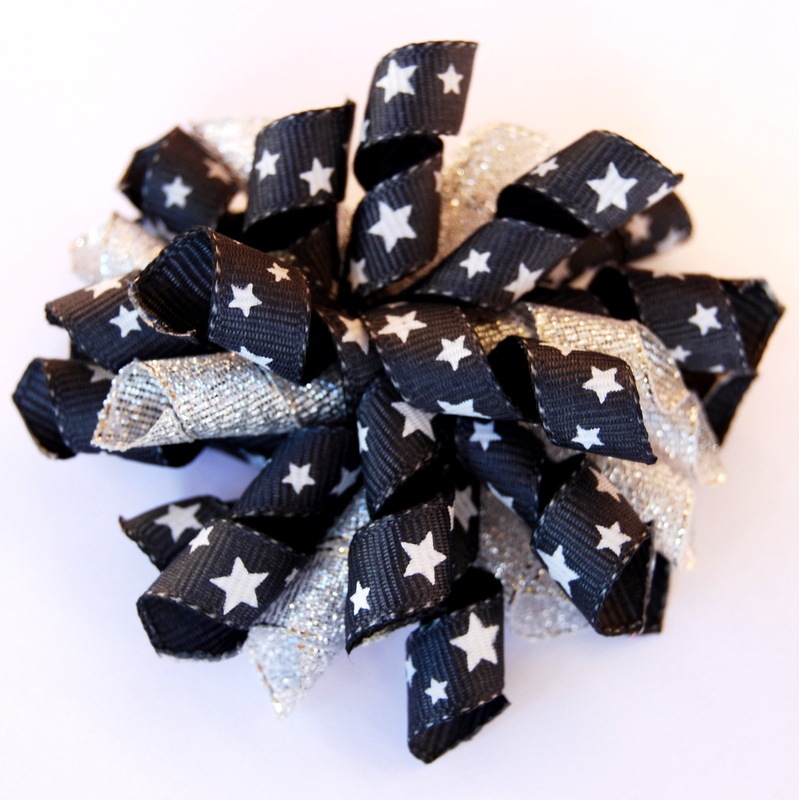Charcoal and silver with stars 'Princess Korker'-