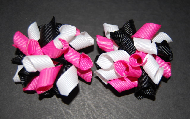 Black, white and hot pink Teeny Tiny Korkers-