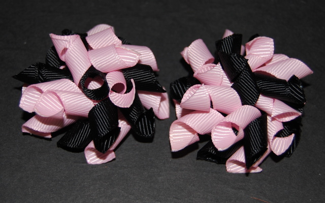 Black and baby pink Teeny Tiny Korkers