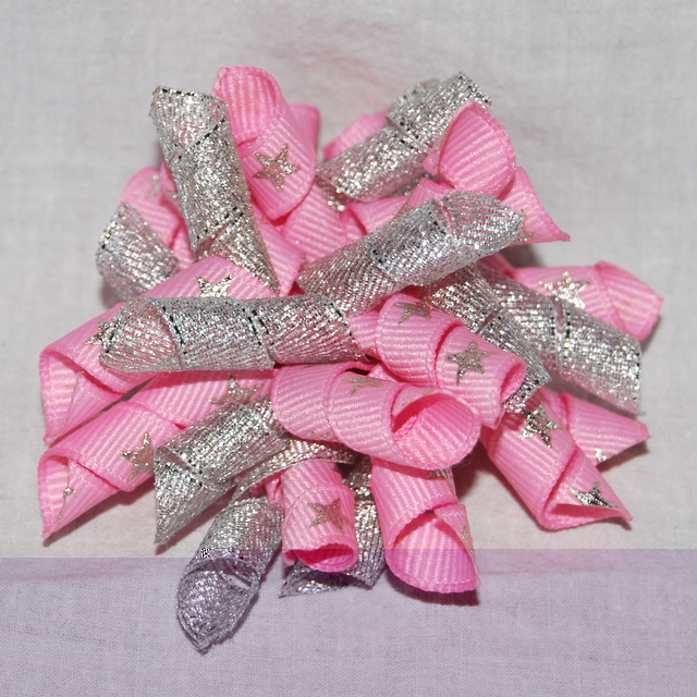 Pink and silver Christmas Korker