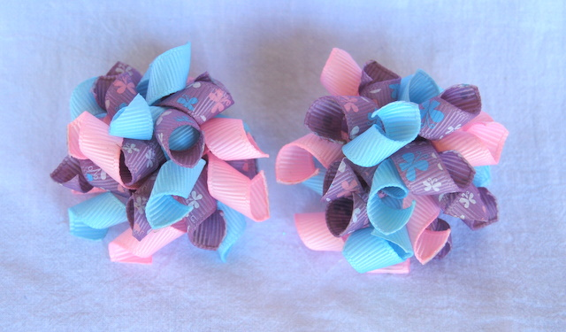 Pink, blue and mauve 'butterfly' Teeny Tiny Korkers-