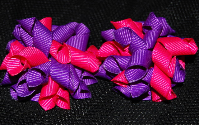 Purple and Shocking Pink Teeny Tiny Korkers-
