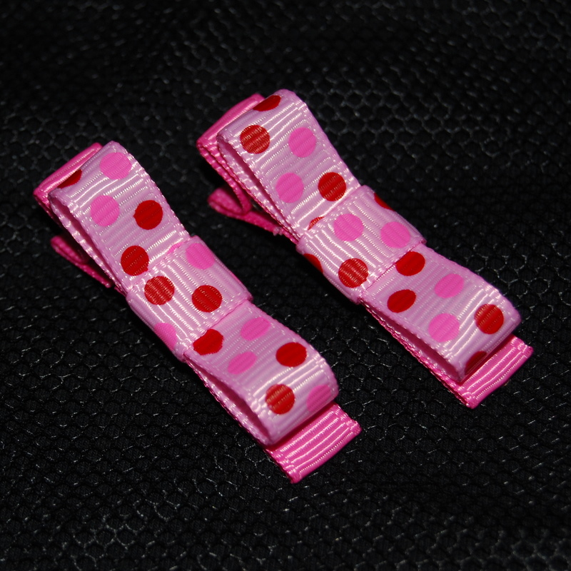 Pink and red spotted Classic Bows-